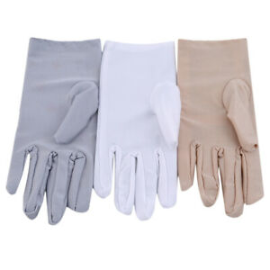 Women-Gloves-Spandex-Embroidered-Full-Finger-Mittens-Sunscreen-Accessories-D