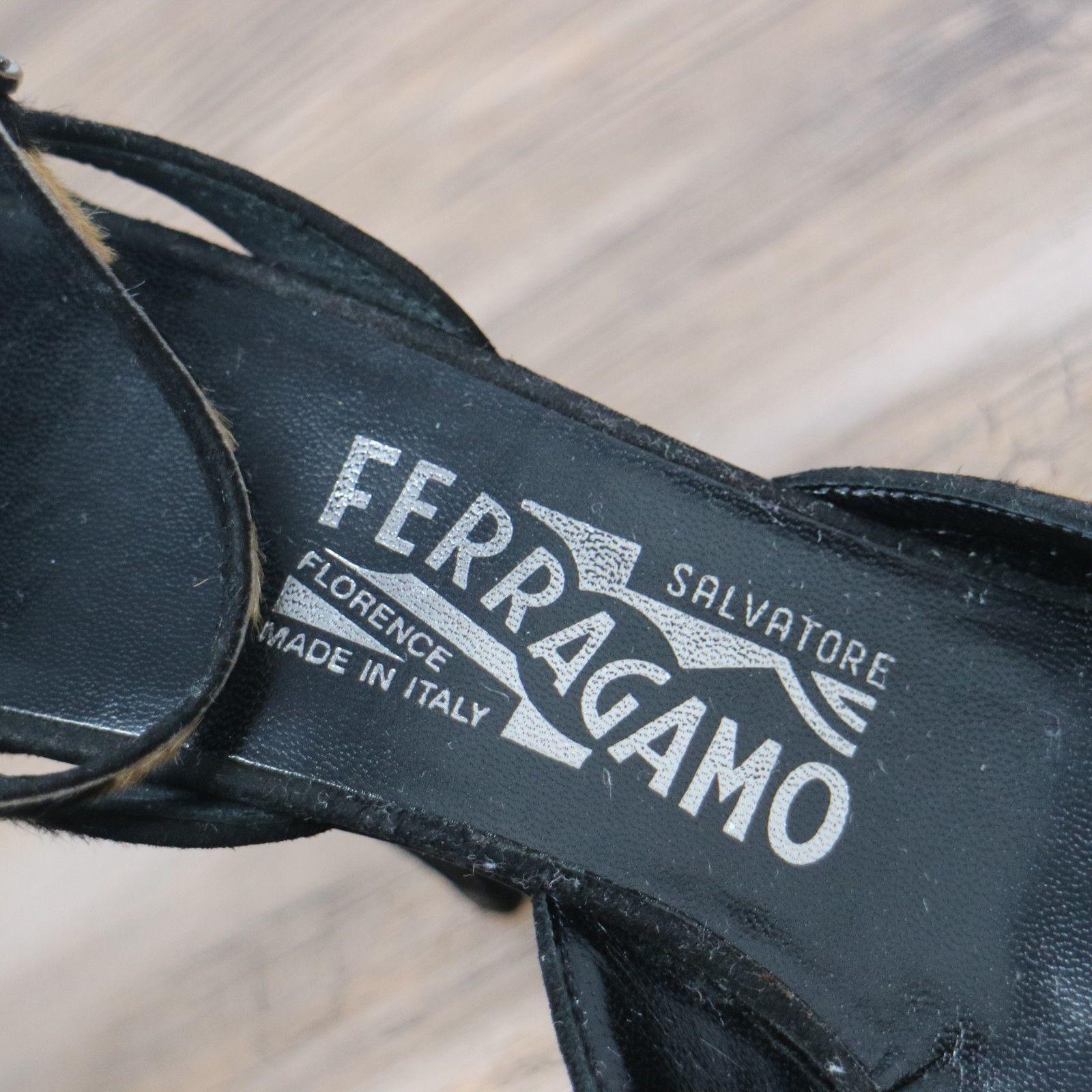Salvatore Salvatore Salvatore Ferragamo Tiger Print Kitten Heels Ankle Strap Cap Toe  Sz 8 83c2b5