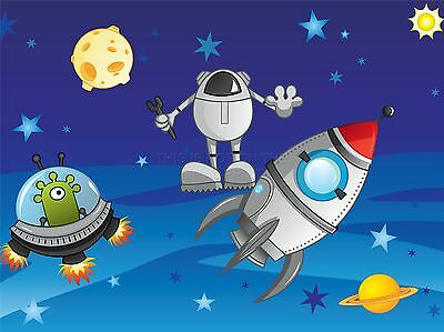 ART PRINT POSTER PAINTING DRAWING SPACE THEMED CARTOON ALIEN LFMP1110