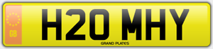 HOMIE-NUMBER-PLATE-HEY-HOMEY-FUN-REGISTRATION-H20-MHY-NO-ADDED-FEES-HOME-HOLMES