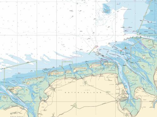Rügen Kieler Lübecker Bucht Helgoland Borkum Fünen Römö Seekarte als Tischset
