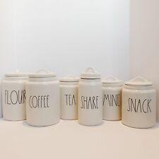 Rae Dunn Canister Flour, Coffee, Tea, Share, Snack, Mine, Hold, Hugs, Store, NEW