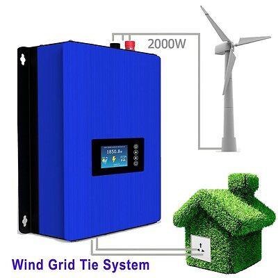 2000W Wind Turbine on Grid Tie Inverter Home Power Sun 2000G2 WAL 45 ...
