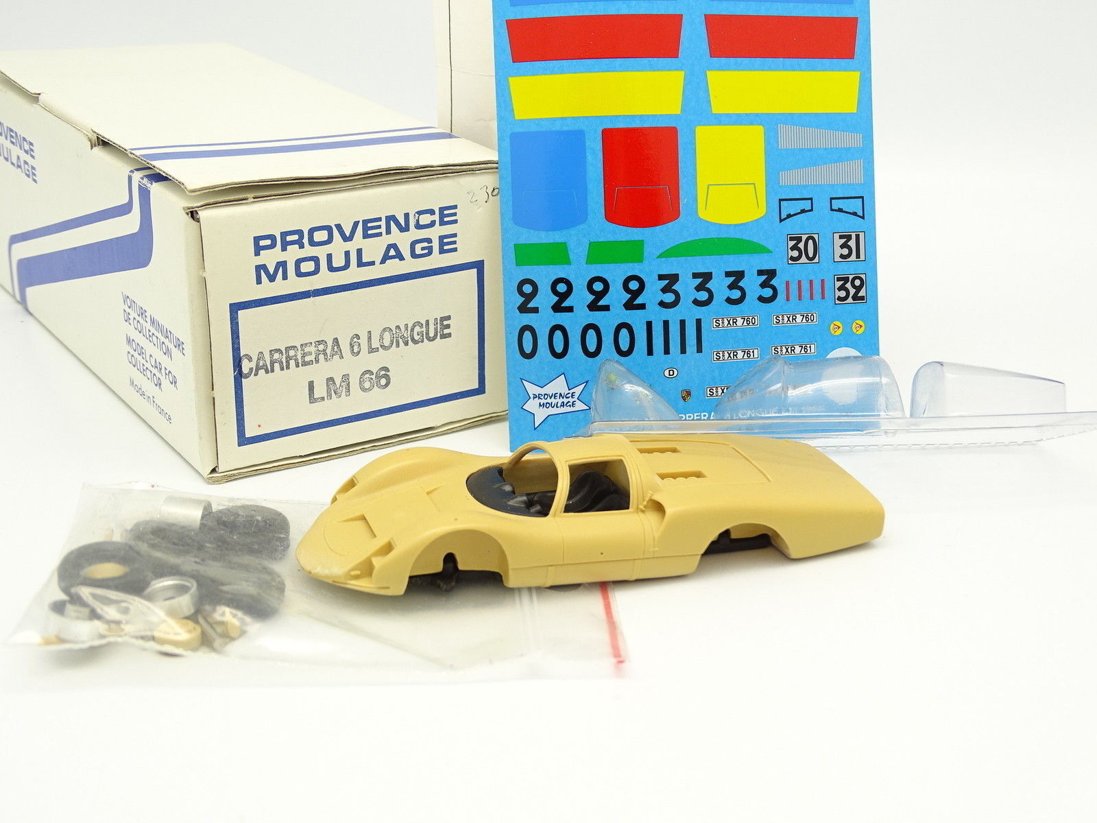Provence Moulage Kit {65533;gry 65533; Monter 1  43 {Porsche bilrera 6 Longue Le Mans 1968}