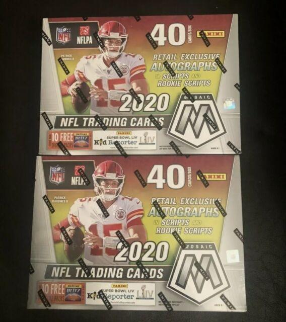 ✅🏈🔥2020 Panini Mosaic NFL Football Sealed MEGA BOX (1)