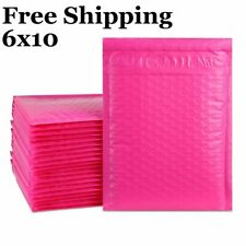 1 500 0 6x10 Poly Pink Color Bubble Padded Mailers Fast Shipping