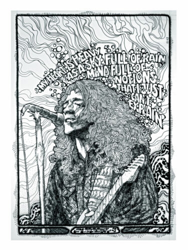 RORY GALLAGHER psychedelic print 16x11 By Jim FitzPatrick