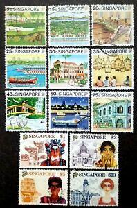 Singapore-1990-Tourism-Complete-Set-13v-Used
