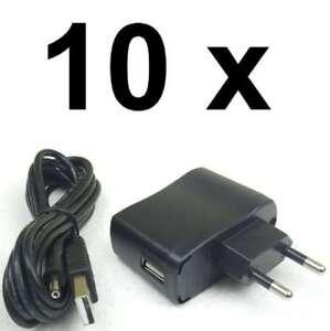 10 x Netzteil USB & 230V Trafo für: Adam Hall LED Schwanenhalsla<wbr/>mpen Klemmlampen