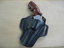 "Taurus Model 608 Revolver 4"" Leather 2 Slot Pancake Belt Holster CCW  BLACK RH"