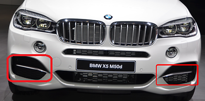 New BMW X5 E70 Front Bumper Tow Hook Cover Pair L+R