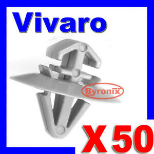 VAUXHALL-VIVARO-SIDE-DOOR-MOULDING-TRIM-CLIPS-EXTERIOR-PANEL-GREY-PLASTIC-X-50