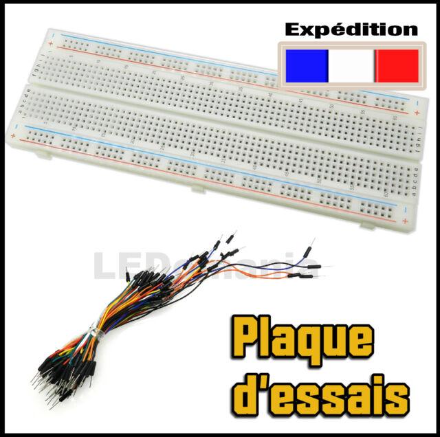 924A# MB102 plaque d'essais  prototype 830 points  -- breadboard PCB arduino -