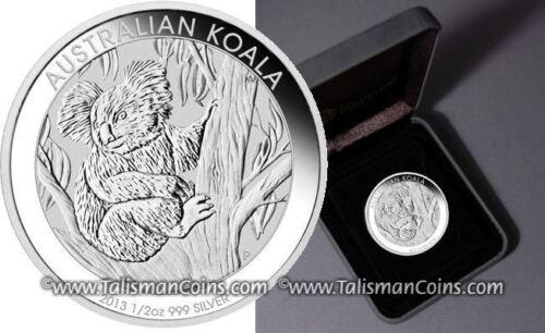 Perth Australia 2013 Koala Bear Climbing Tree 50 Cents 1//2 Oz Pure Silver In Box