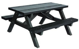 039-Shires-039-Recycled-Plastic-Adult-Picnic-Table-BRAND-NEW-in-BROWN