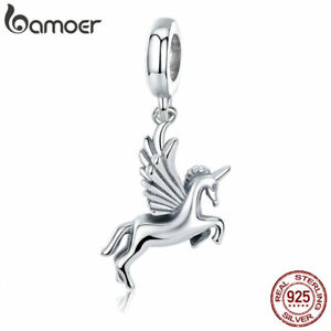 BAMOER-Solid-S925-Sterling-Silver-Charms-Fly-Horse-Dangle-DIY-for-Bracelets