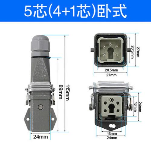 4Pin 5pin 6pin 8pin Rectangular Heavy Duty Connector Aviation Plug HDC-HA-003
