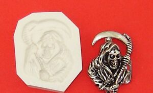 Skull Grim Reaper Sons of Anarchy Polymer Clay Push Mold Diy Jewelry