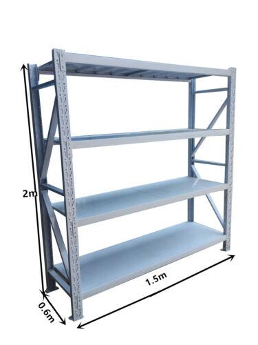 1.5M Length Garage Warehouse Metal Steel Storage Shelves Racking Racks Shelving