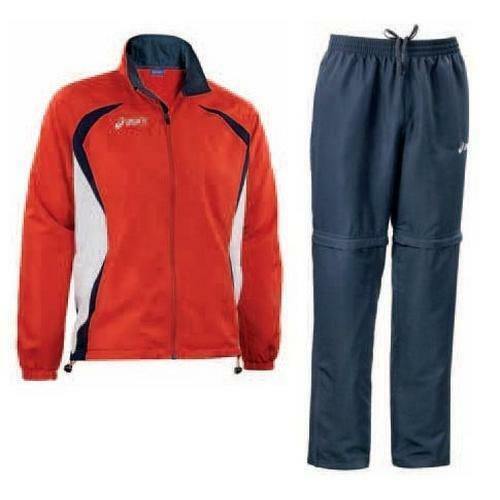 pantaloni AMBASSADOR rosso blu T210Z5 ASICS Tuta sportiva unisex giacca