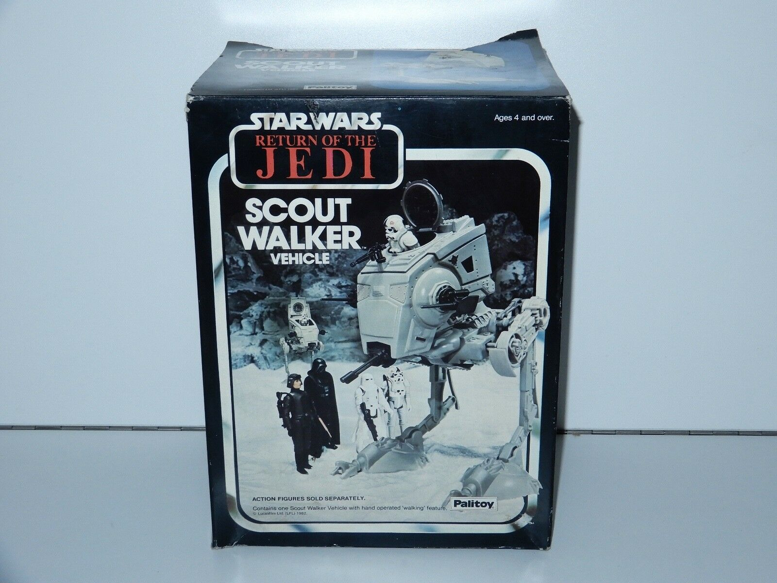 STAR WARS SCOUT KENNER VEHICLE 1983 ROTJ AT-ST SCOUT WARS WALKER BOXED MIB PALITOY FRANCE de72c6
