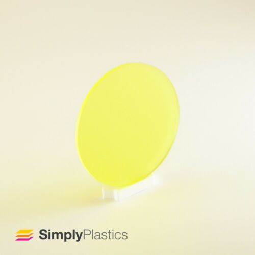5mm Perspex® Laser Cut Coloured Frosted Acrylic Plastic Disc Circle