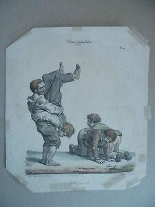 Litho-XIX-Langlume-Ah-J-039-Ris-Ti-von-Pigal-Edme-Jean-Circa-1822