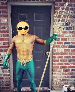 Aquaman Arthur Curry Orin Zentai Cosplay Costume Superhero Jumpsuit Halloween