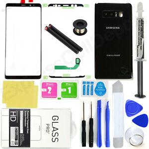 For-Samsung-Galaxy-Note-8-N950-Black-Front-Screen-Glass-Back-Replacement-Kit