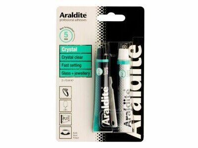 ARALDITE CRYSTAL 2 PART ADHESIVE GLASS /& JEWELLERY CHINA CERAMICS PORCELAIN ETC