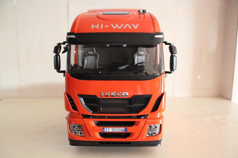 Rare 1 12 scale Iveco Stralis Hi-Way Truck includes a remote control by Hachette