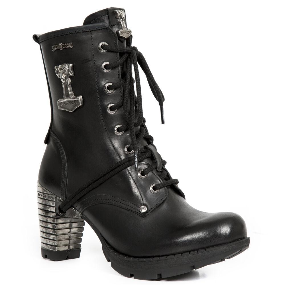 Grandes zapatos con descuento New Rock Schuhe Damen- Stiefelette Stiefel Absatz Boots Thors Hammer