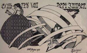Willi-GEIGER-1878-1971-Ex-Libris-Pepi-Junger-1907-signiert