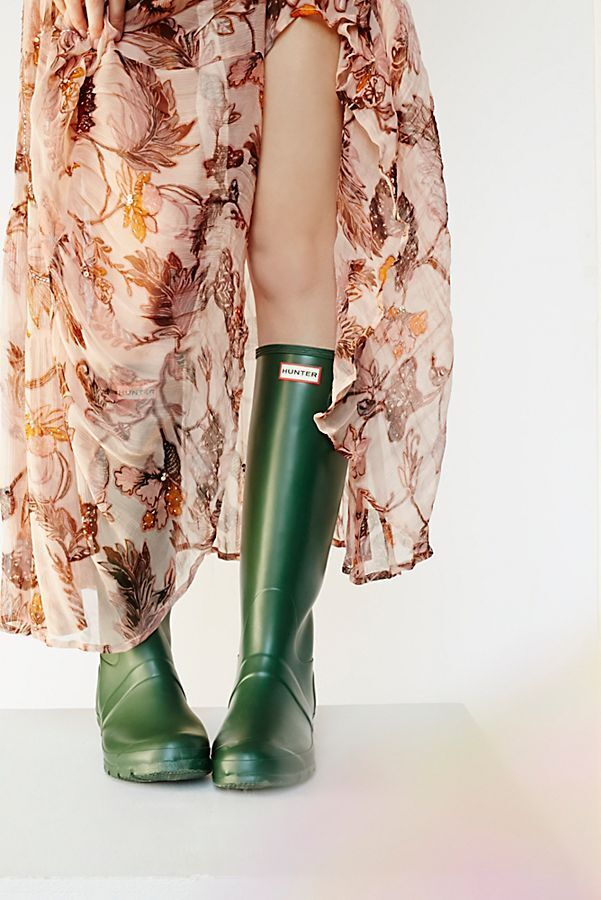 Hunter Tall Rain Boots Size 9  NEW MSRP:  9 150 verde Donna 96d4c4
