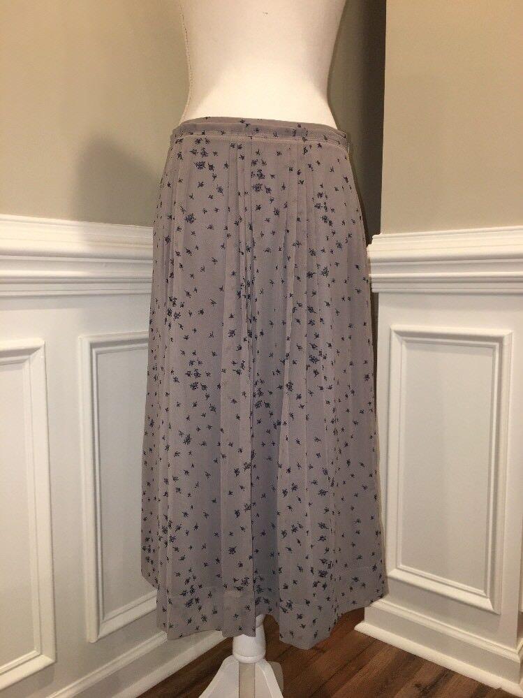 NWT Madewell Sheer Midi Skirt in pinkbud Scatter Sz 6 B7004
