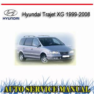 hyundai trajet xg 1999 2008 service repair manual dvd ebay rh ebay com au 2000 Hyundai Trajet 2007 Hyundai Trajet