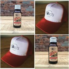 Bobos Beard Company Red Trucker Cap Hat With A Free Bobos Beard Bomb Oil