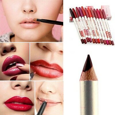 12Pcs Beauty Cosmetics Eye Shadow Waterproof Eyeliner Lipliner Pen Pencil Makeup