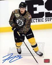 Frank Vatrano Boston Bruins Signed Autographed Pregame Military Jersey 8x10