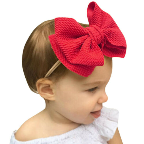 Unisex Infant Baby Hair Ball Multicolor Headband Elastic Bow Design Hair Band