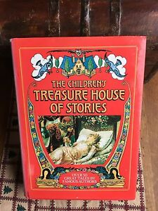 Vintage-Children-039-s-Story-Book-The-Children-s-Treasure-House-of-Stories-1986