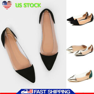 3852d40c515e4 Women Summer OL Flats Shoes Leisure Pointy Toe Loafers Slip On ...