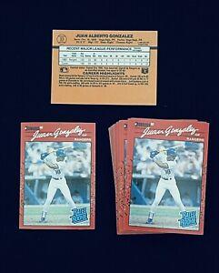 Lot of 2 Juan Gonzalez 1990 Donruss Rookie Cards #33 Rangers * PACK FRESH MINT *