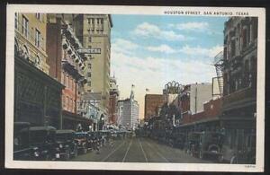 Postcard San Antonio Tx Texas Houston Street Business Store Front 1910 S Ebay
