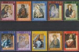 Vaticaan-postfris-2002-MNH-1394-1403-Maria-Afbeeldingen