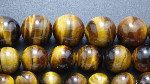 """4mm-20mm natural gemstone tiger/'s Eye Round Loose Beads 15 /""""AAA"""