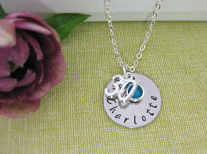 Details About 30th Birthday Gift Personalised Jewellery Name Necklace Birthstone Gift Box
