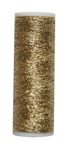 Metallic Stickgarn REXETA  Beilauffaden 60m gold 1001