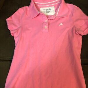 Aeropostale-Stretch-S-S-Pink-Women-039-s-Size-XL-Polo-Shirt