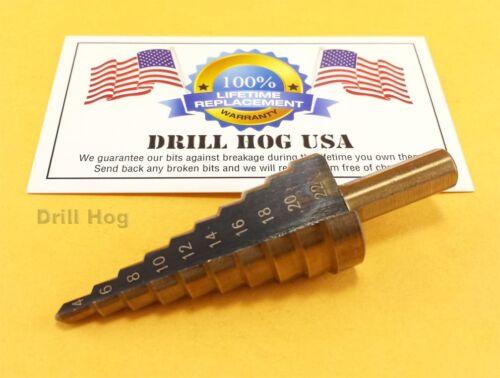 4-22 mm Métrique Step Drill Bit mm UNIBIT M7 Garantie à vie Perceuse Hog USA